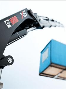 Hiab kran heiser container