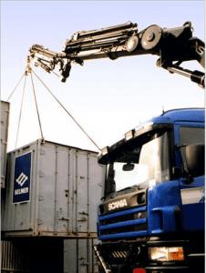 Heising av selmer container